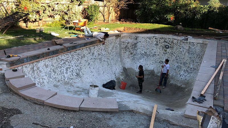 Westlake Village pool remodeling